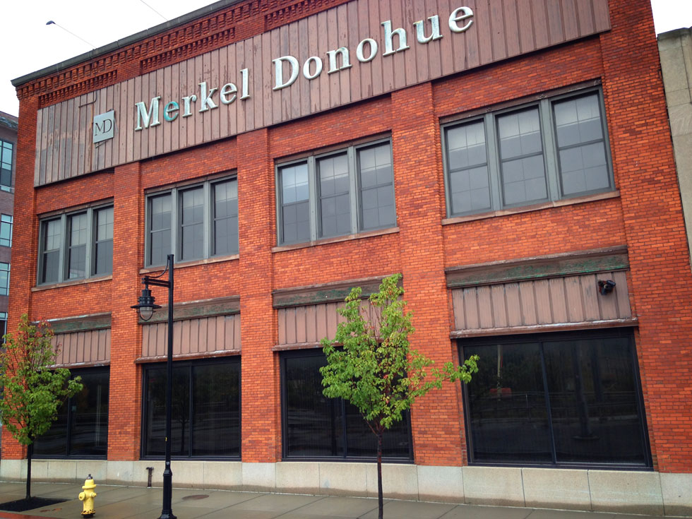 Merkel Donahue building, Oct 2014. Development Update on 210 South Avenue, Rochester NY. [PHOTO: Steve Vogt]