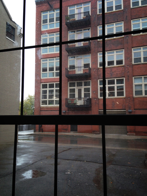 View of 1 Capron from the first floor of 210 South Avenue, Rochester NY. [PHOTO: Steve Vogt]