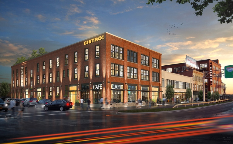 Exterior rendering of Woodbury Place at 210 South Avenue, Rochester NY. [IMAGE: Provided by Patrick Dutton]