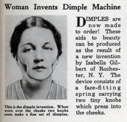 he Dimple Machine, invented by Isabella Gilbert of Rochester NY in 1936.