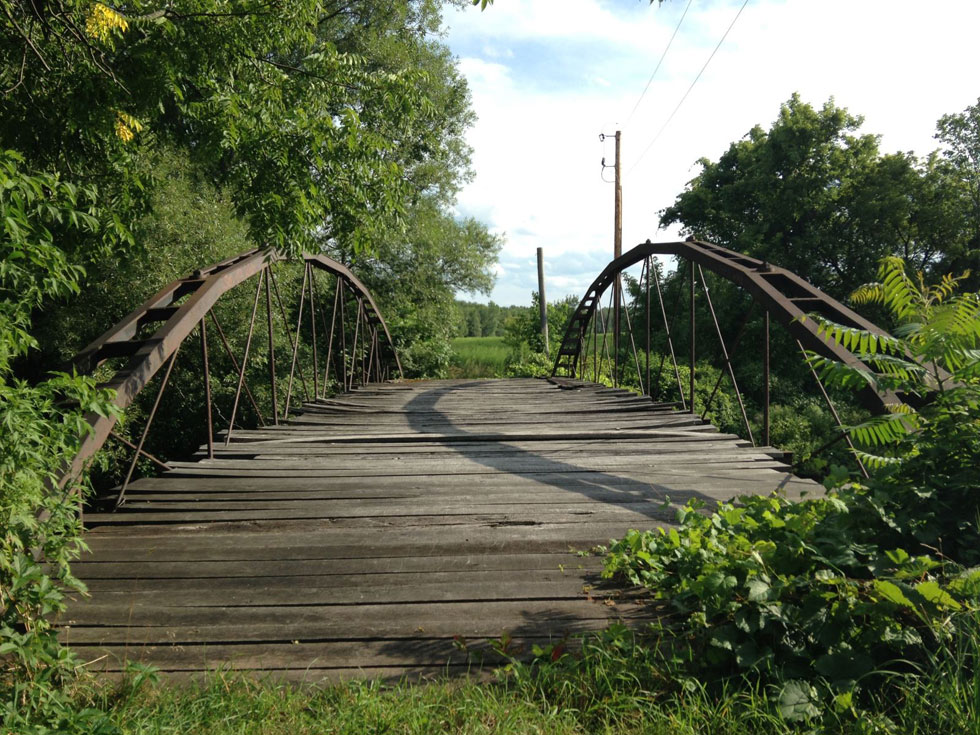The Ehrmentraut Farm Bridge is easily one of the oldest and most unique bridges in the entire United States. [PHOTO: Chris Clemens]