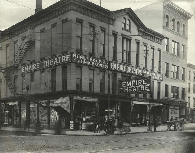 Empire Theatre at Main and Clinton, 1900. [PHOTO: Rochester Public Library]