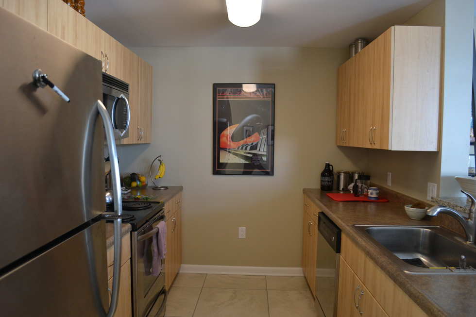 The kitchen seemed to me the perfect size and layout – with all the right amenities. [PHOTO: RochesterSubway.com]