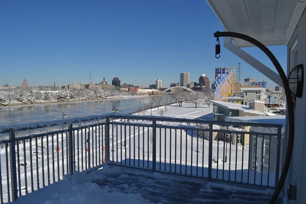 The view from their deck. [PHOTO: RochesterSubway.com]
