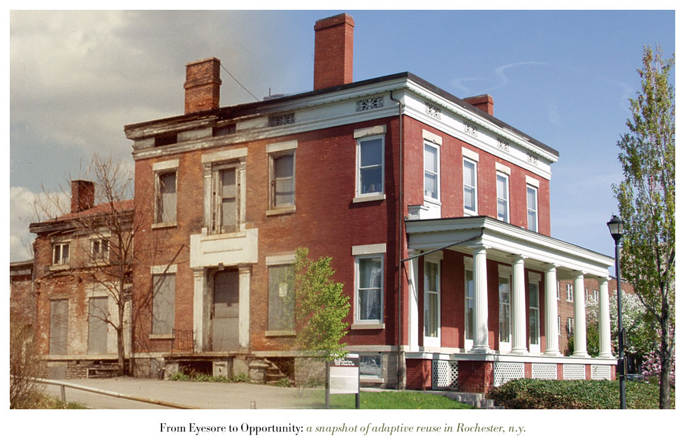 The Hoyt-Potter House on Fitzhugh Street. From Eyesore to Opportunity: a snapshot of adaptive reuse in Rochester N.Y.