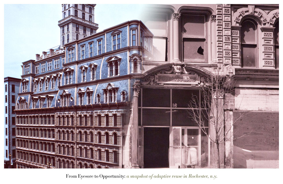 The Powers Building on Main Street. From Eyesore to Opportunity: a snapshot of adaptive reuse in Rochester N.Y.
