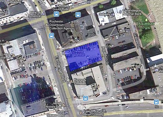 Aerial view of 18-26 Exchange Blvd. [IMAGE: Google Maps]