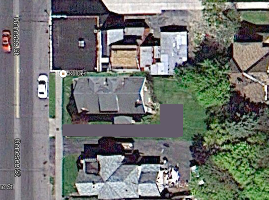 Matthew Denker looks at the feasibility of filling in this empty lot on Genesee Street. [IMAGE: Google Maps]