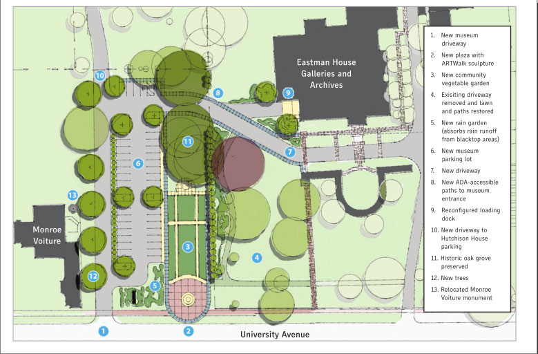 This is an alternative plan for the site recently released by George Eastman House