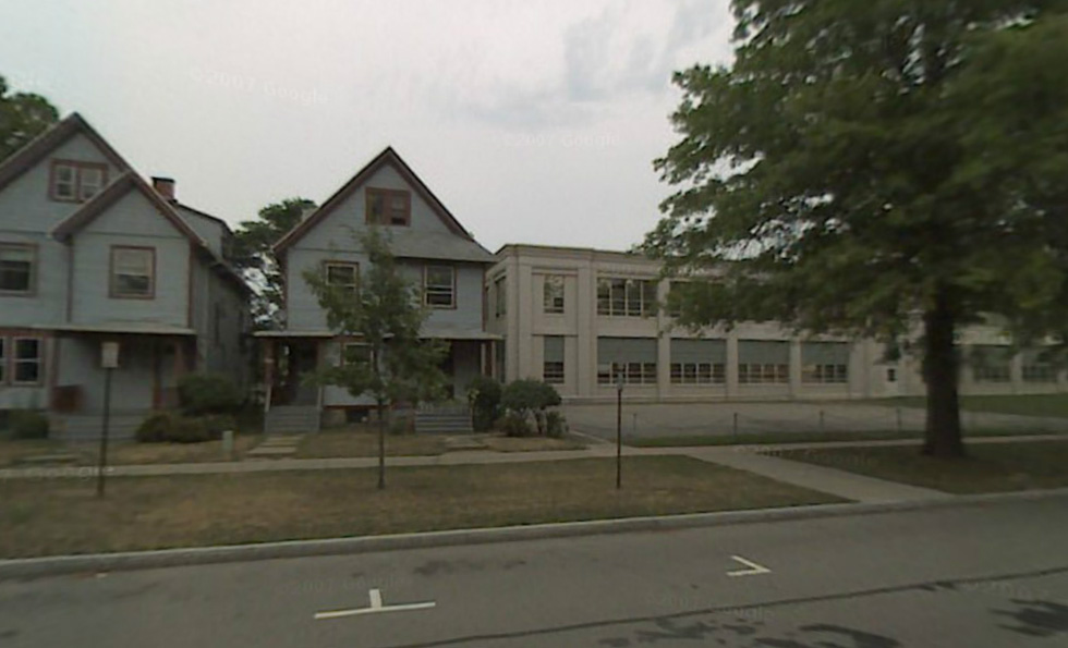 These are the buildings directly across the street from 933 University Ave.