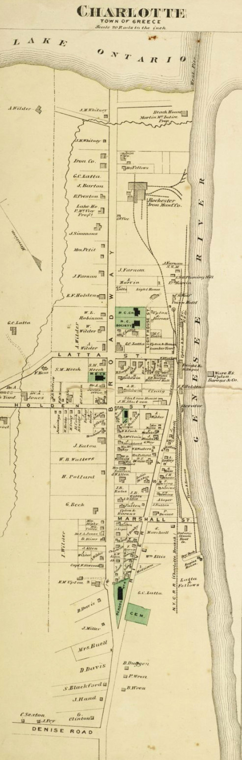 This map shows how Charlotte looked shortly after the civil war.