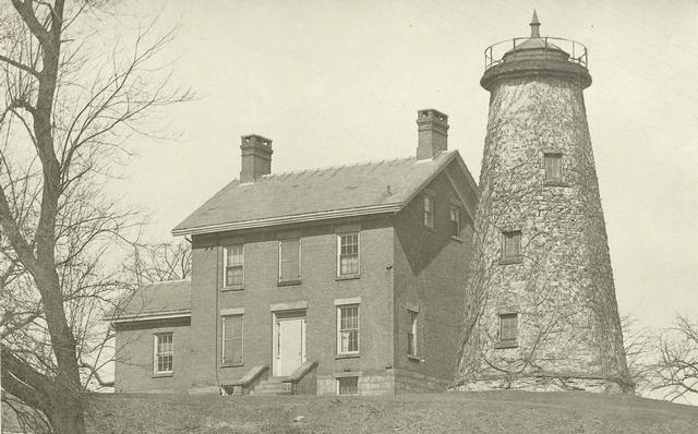 There is the lighthouse in 1863. [PHOTO: Rochester Public Library]