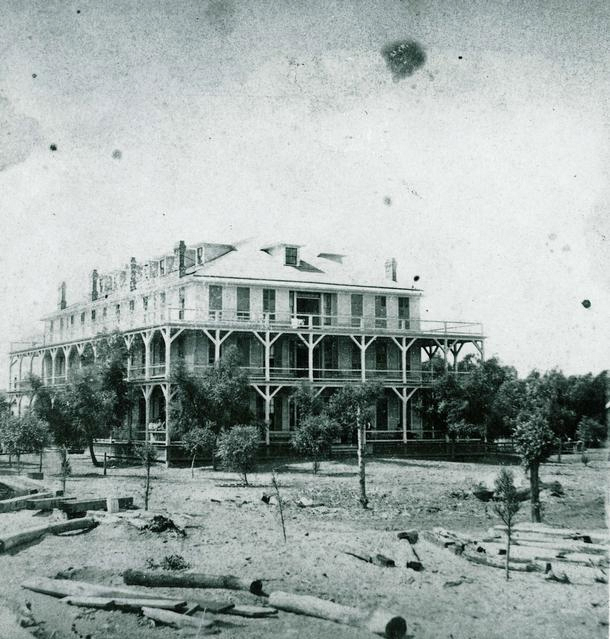 This is the Spencer House Hotel in 1873. [PHOTO: Rochester Public Library]