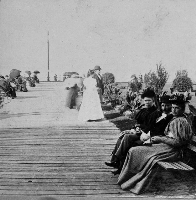 This is a photo of the boardwalk from the 1880s. [PHOTO: Rochester Public Library]