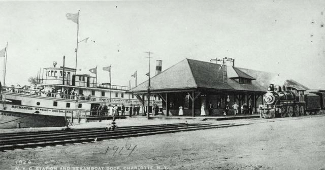 This is the transit shed, shown on the plat maps. [PHOTO: Rochester Public Library]