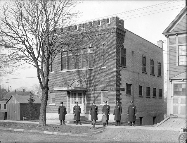 Here is the police station they were so hot to trot about in the town now formerly known as Charlotte. [PHOTO: Albert R. Stone]