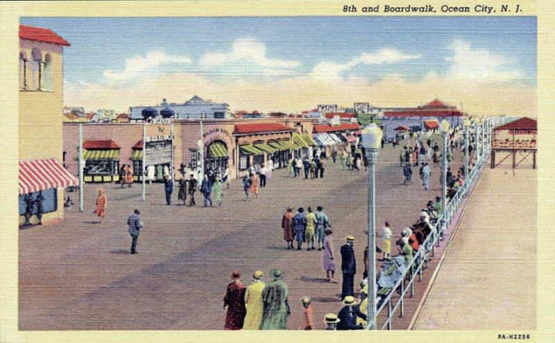 The boardwalk, Ocean City, NJ.
