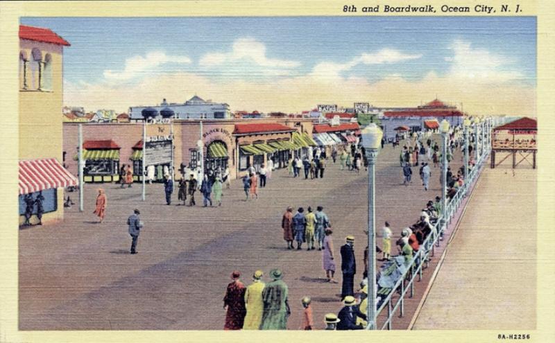 The boardwalk, Ocean City, NJ.