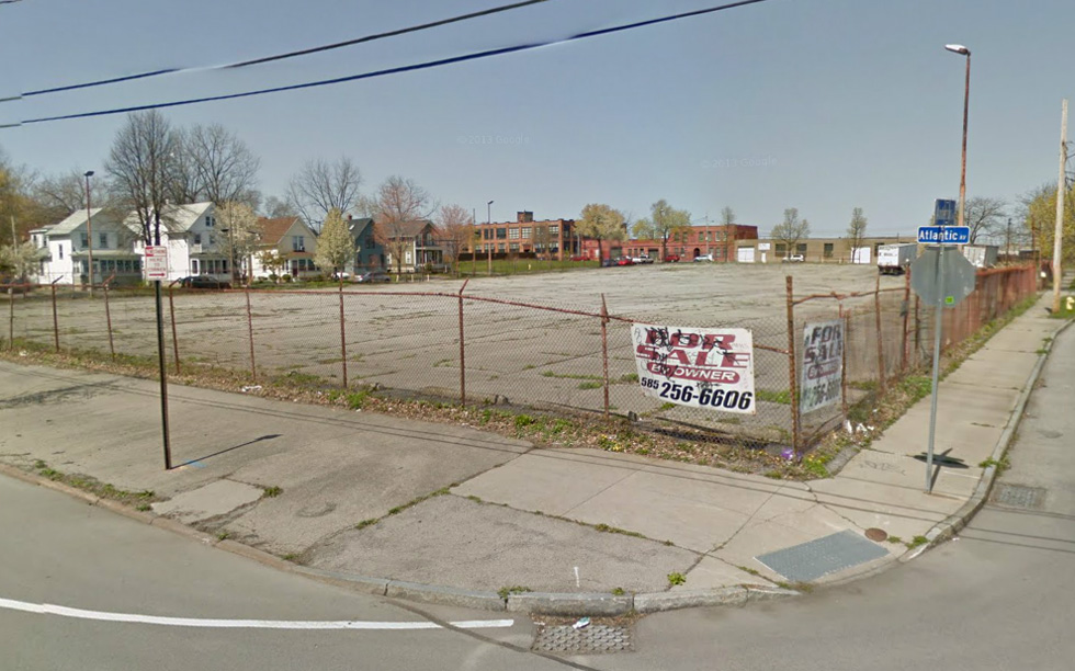The corner of Atlantic and Anderson in the Holmes Tract. Gleason doesn't want this lot anymore. Maybe we can put it to good use? [PHOTO: Google Streetview]