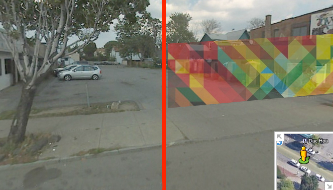 Starting from the west at Union St, the parking lot next to Dac Hoa should have a scrim to block it from pedestrians. [IMAGE: ART: Andy Gilmore, Rochester]