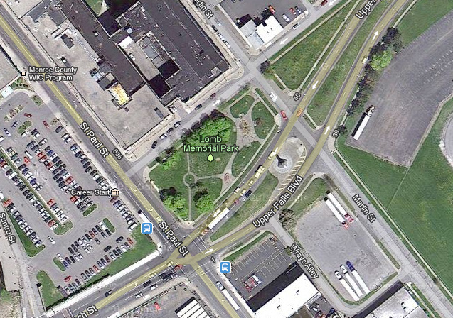 Lomb Memorial Park, Rochester NY. [IMAGE: Google Maps]