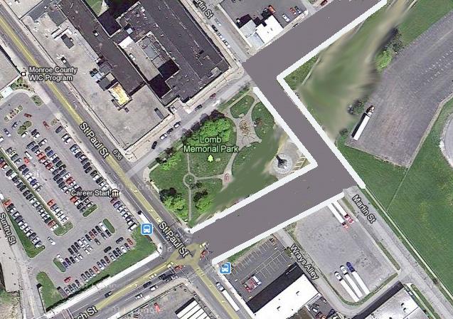 Lomb Memorial Park repaired.