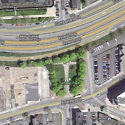 Schiller Park, Rochester NY. [IMAGE: Google Maps]
