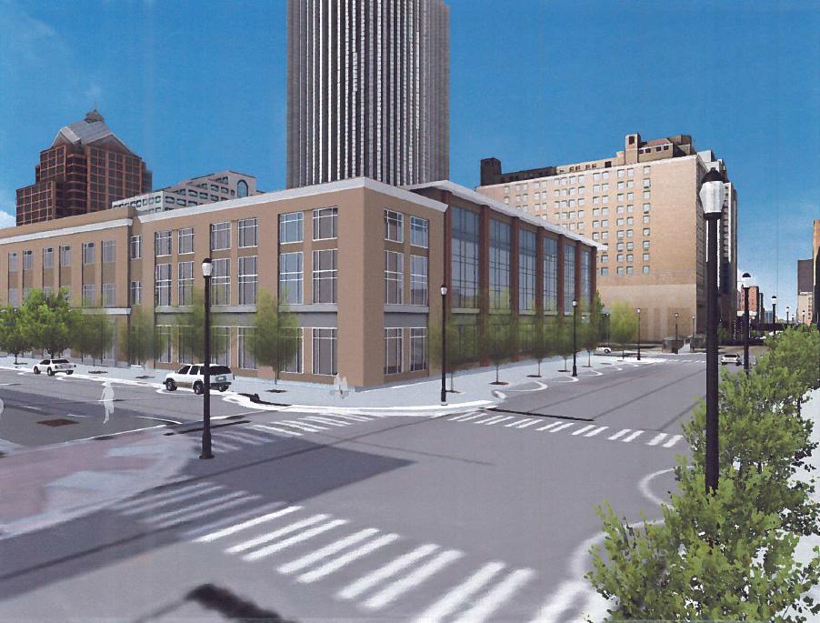New Gannett Building from the east.