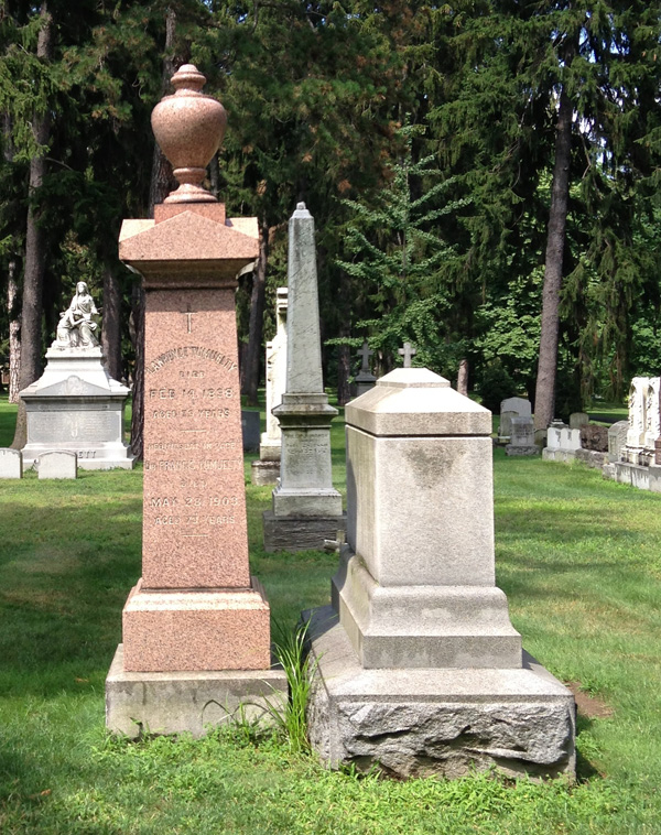 Grave of Francis Tumblety at Holy Sepulchre Cemetery. [PHOTO: Chris Clemens]