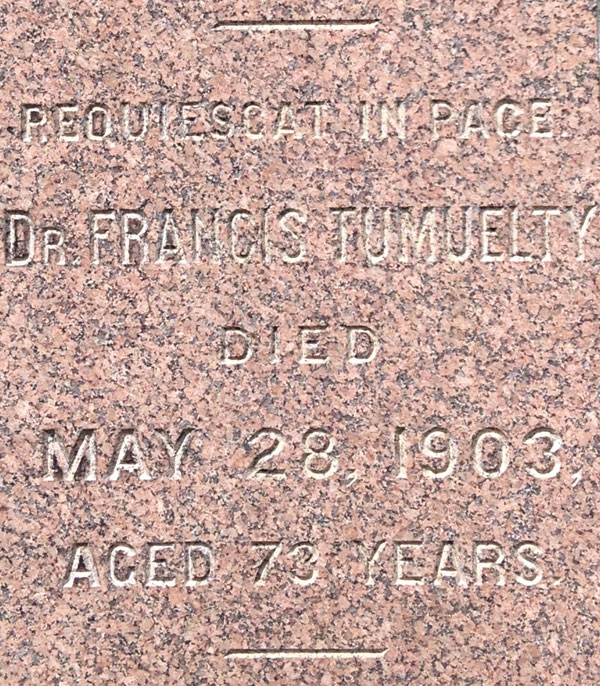 Known for a number of his high profile arrests, Francis Tumblety is probably one of the few infamous people to rest in peace, right in the historic Holy Sepulchre Cemetery on Lake Ave. [PHOTO: Chris Clemens]