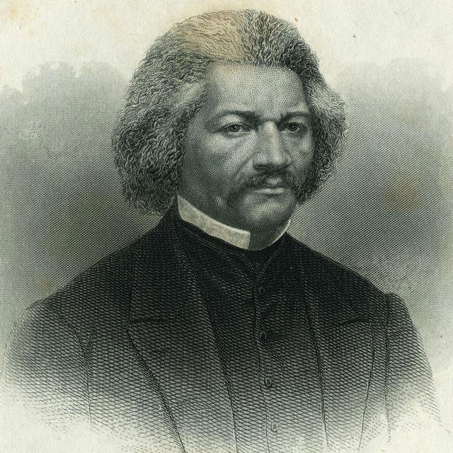 An engraved portrait of Frederick Douglass, noted African-American abolitionist. Douglass was an active abolitionist in the Rochester area and a sought-after lecturer after the Civil War. After his home on South Avenue was destroyed by fire in 1872 he moved to Washington, D.C. [PORTRAIT BY: Ritchie, Alexander Hay, 1822-1895.]