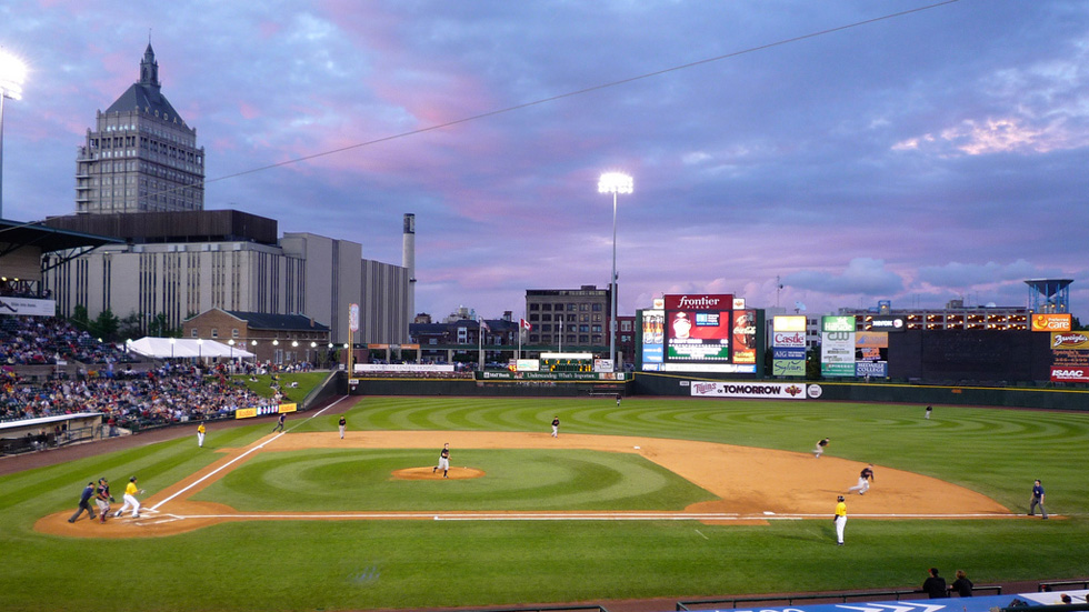 Rochester's Frontier Field will host the 2013 Field of Dreams Game. [PHOTO: RocPX.com]