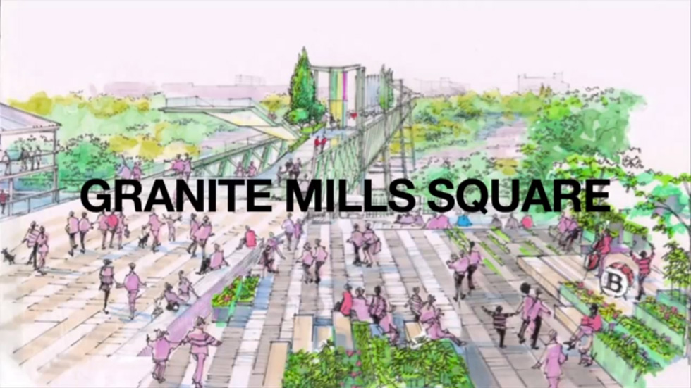Phase 1 also a reimagined Granite Mills Park... [IMAGE: Friends of the GardenAerial]