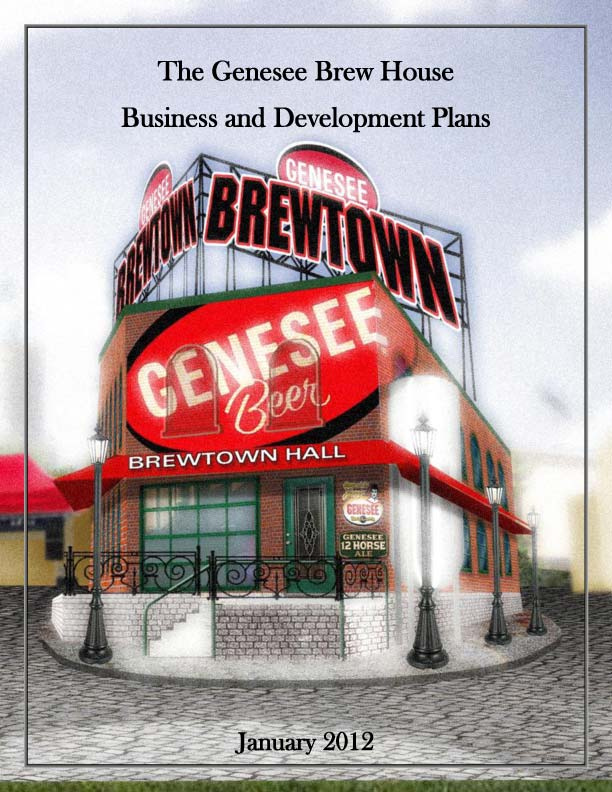 The 'Genesee Brew House Business and Development Plans' surfaced this week showing two offers to buy Cataract. But North American would rather have an expanded parking lot for this visitor center.