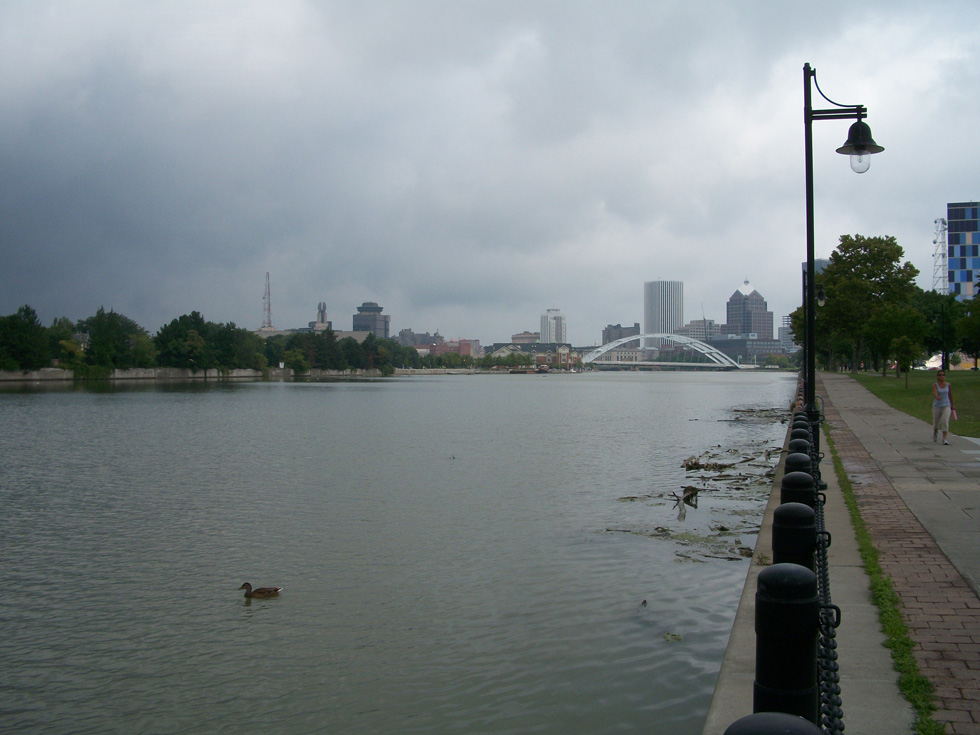 The Genesee River, now looking less like a landfill. [PHOTO: RochesterSubway.com]