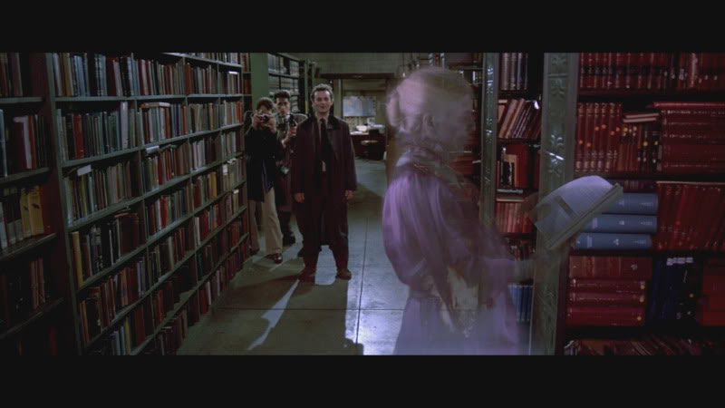 Bill Murray and Dan Aykroyd have a close encounter with a library ghost in the 1984 comedy, 'Ghostbusters'. [SOURCE: Columbia Pictures]