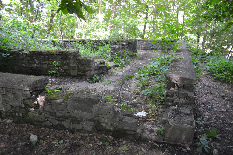 Ruins of an old park pavilion. These are not from the Glen House elevator. [PHOTO: Paige Doerner, paigedoerner.wordpress.com]
