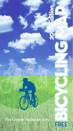 Download the Greater Rochester Area Bicycling Map, prepared by the Genesee Transportation Council.