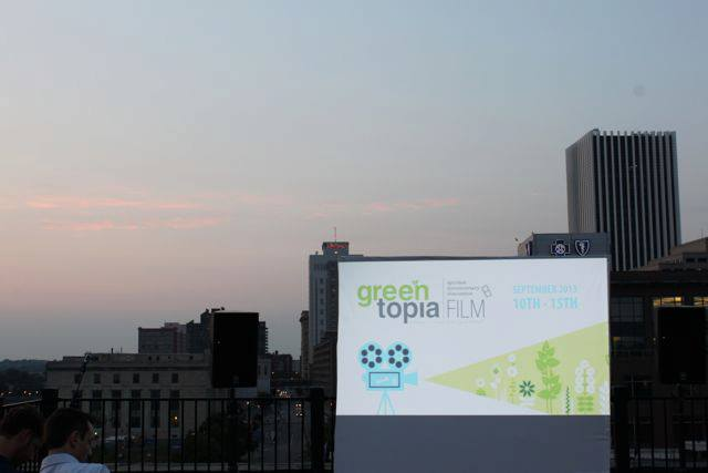 This year's Greentopia Film Festival will feature an array of unique films and equally unique screening locations; such as the roof of 1 Capron Street. [PHOTO: Jason Schwingle, TheRochesteriat.com]
