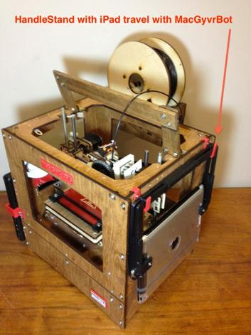 A make-it-yourself 3D printer! [PHOTO: Joel Helfrich]