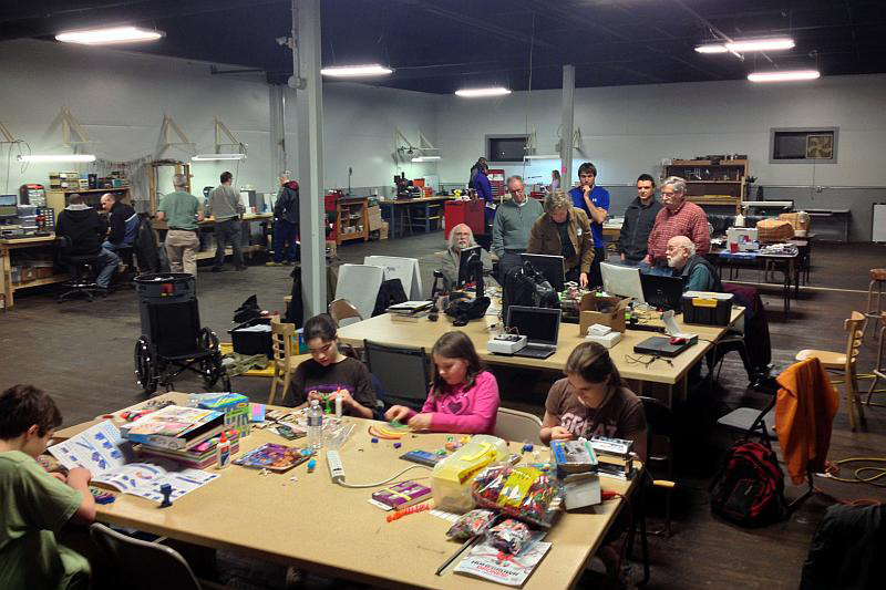 Makerspace on Saint Paul Street encourages learning, creativity and collaboration by providing the community with low-cost access to a wide variety of sophisticated tools, workspace, and a wide variety of art, craft and technology classes. [PHOTO: RochesterMakerspace.org]