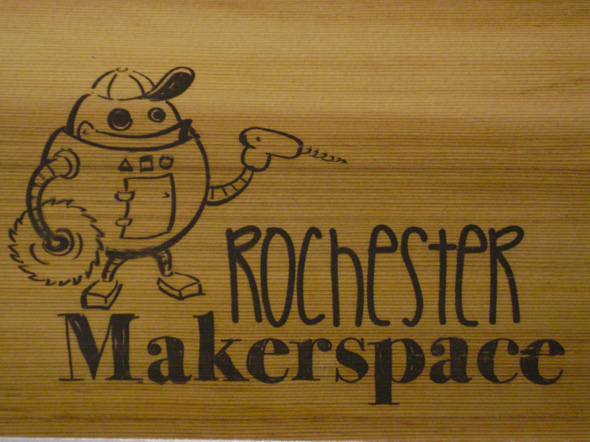 What separates Rochester Makerspace from Interlock Rochester is the former's emphasis on making versus hacking. Rochester Makerspace has two spaces within the same building on St. Paul Street, one of which is a 1000 square foot woodshop. [IMAGE: Rochester Makerspace]