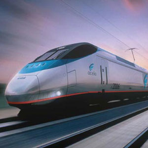 Amtrak's Acela high-speed train which operates between Washington DC and Boston.
