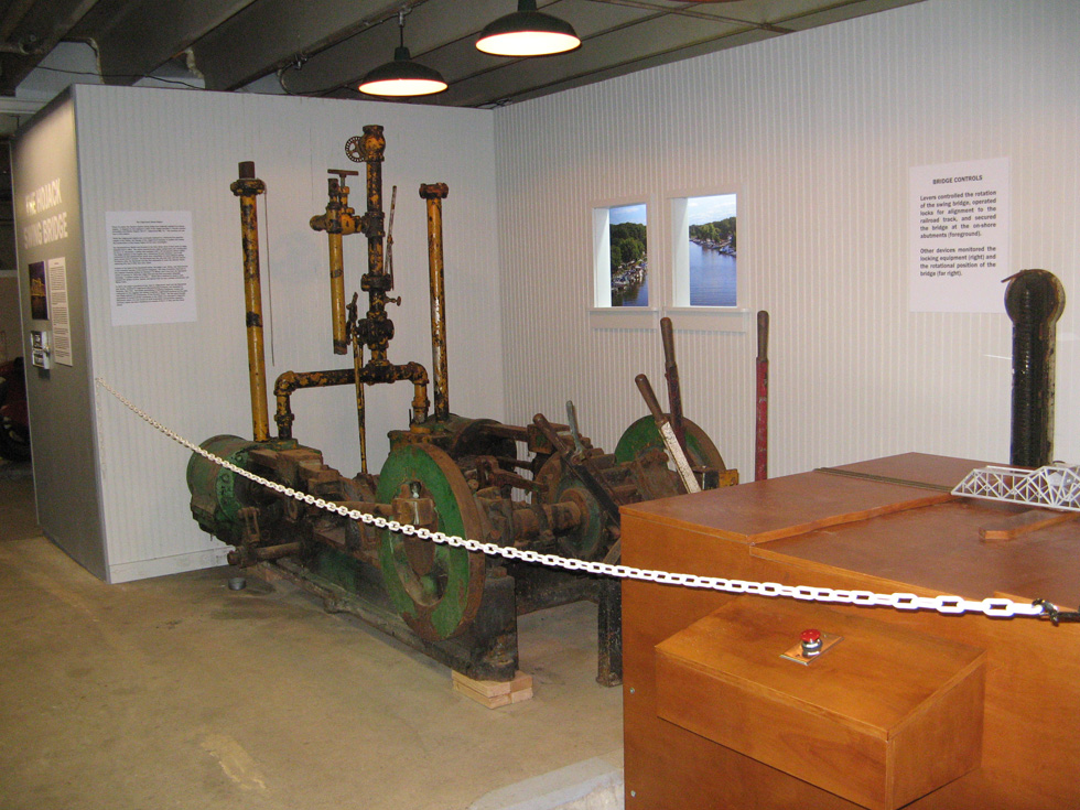 The control room of the Hojack Swing Bridge has been recreated at the NY Museum of Transportation. [PHOTO: Flickr, M J M]