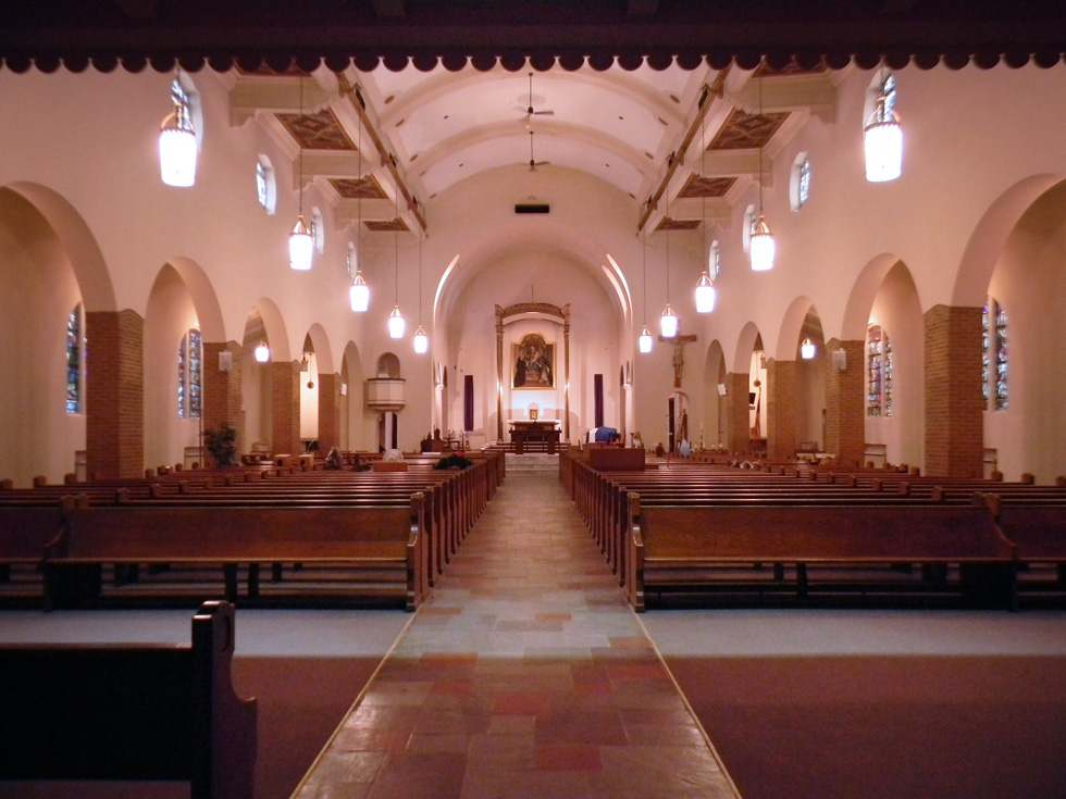Holy Rosary Church,  interior (before). [PHOTO PROVIDED BY: Preservation Studios]