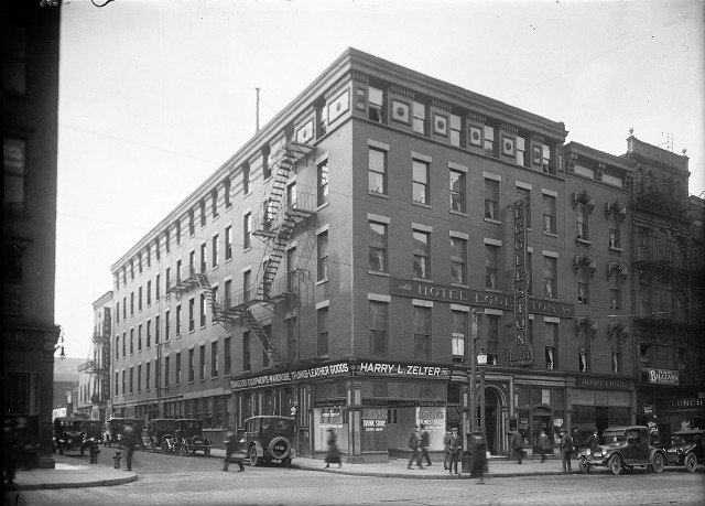 Hotel Eggleston in 1924. Offices of James Vick's Sons seed company can be seen around the corner on Stone Street. [PHOTO: Albert R. Stone]