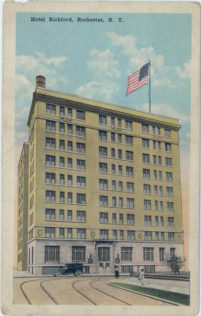 Hotel Richford at Chestnut & Elm Street, Rochester. [IMAGE: Rochester Public Library Local History Division]