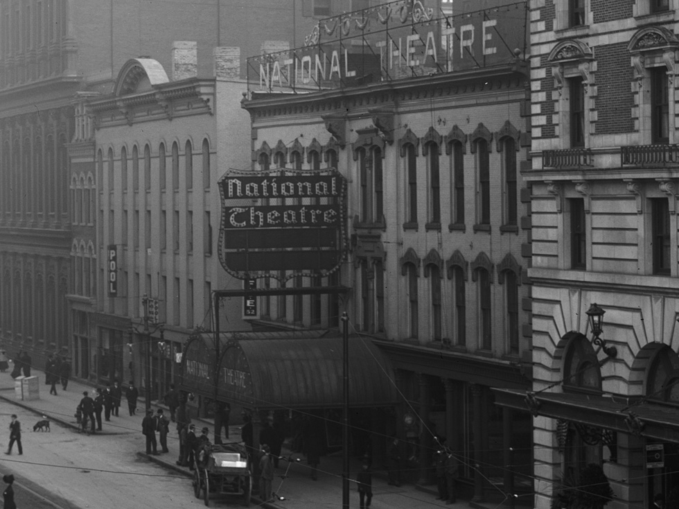 National Theatre. Rochester, NY. c.1908. [PHOTO: Detroit Publishing Co. via Library of Congress]