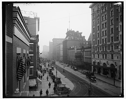View of Main Street, Rochester, NY. c.1908. [PHOTO: Detroit Publishing Co. via Library of Congress]