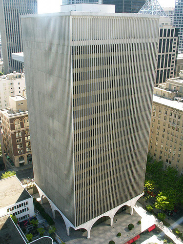 IBM Building, Seattle. Started in 1962 and completed in 1964 (Minoru Yamasaki).
